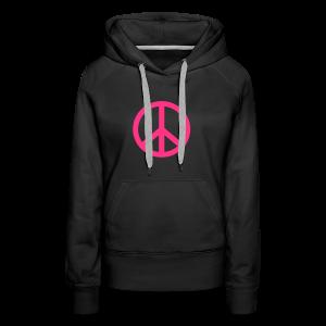 Gay pride peace symbool in roze kleur - Vrouwen Premium hoodie