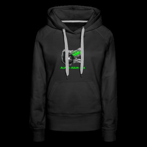 logo ALPES-AZUR-4X4 - Sweat-shirt à capuche Premium pour femmes