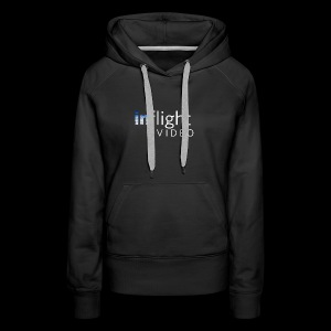 inflight Video White Logo - Women's Premium Hoodie