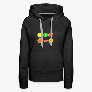DIGITAL FRUITS - Digitale Hipster Früchte - Frauen Premium Hoodie