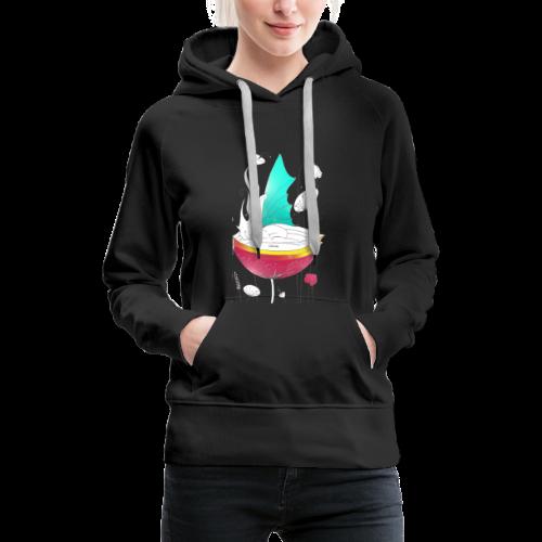 color me - Sweat-shirt à capuche Premium pour femmes