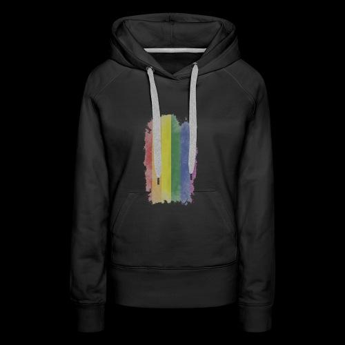 Bandera LGBTI - Sudadera con capucha premium para mujer
