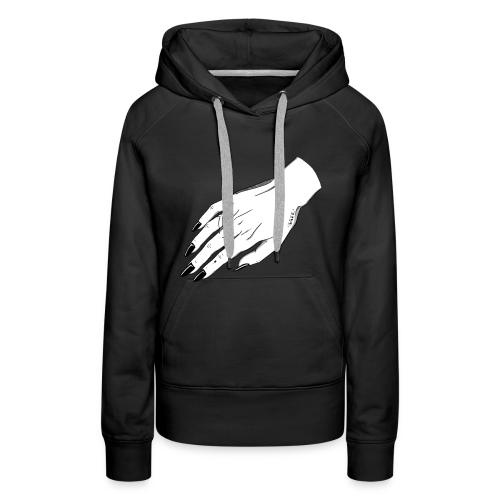 SAFE (female hand) - Sudadera con capucha premium para mujer