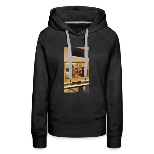 fan de caro - Sweat-shirt à capuche Premium pour femmes