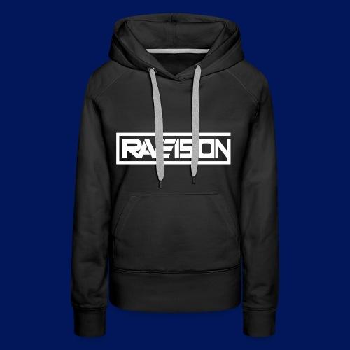 Raveision logo white - Frauen Premium Hoodie