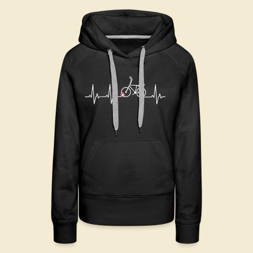 Radball | Heart Monitor White - Frauen Premium Hoodie