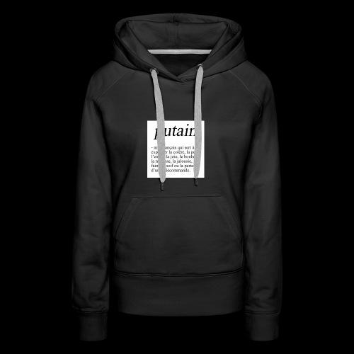 TA PHRASE - Sweat-shirt à capuche Premium pour femmes