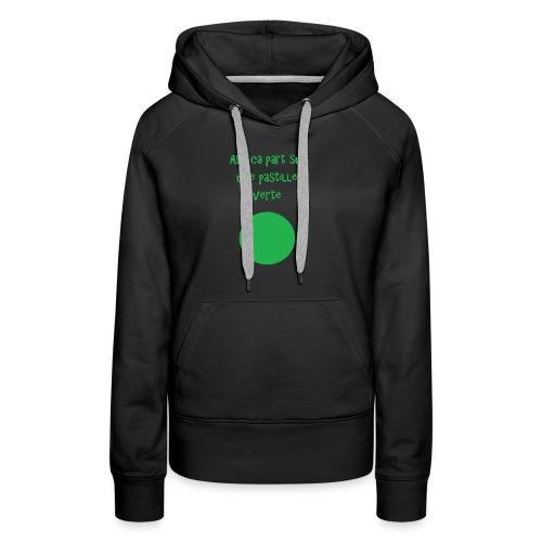 Pastille verte - Sweat-shirt à capuche Premium pour femmes