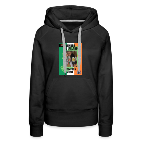 ANT THE CHAMP with 2018 winning belt - Women's Premium Hoodie