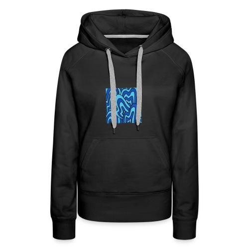 Wavy blue - Sweat-shirt à capuche Premium pour femmes