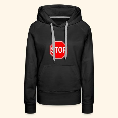 STOP - Sweat-shirt à capuche Premium pour femmes