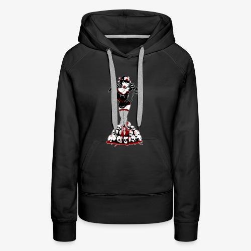 Halloween Geisha Pin-up - Sweat-shirt à capuche Premium pour femmes