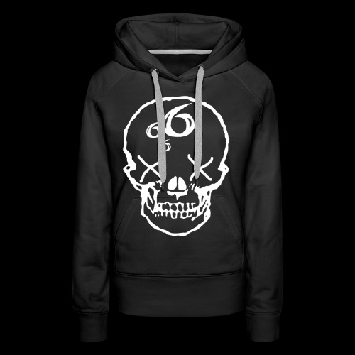666 Skull - Premiumluvtröja dam