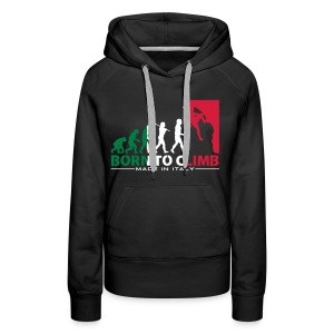 ROCK CLIMBING EVOLUTION BORN TO CLIMB ITALY - Women's Premium Hoodie