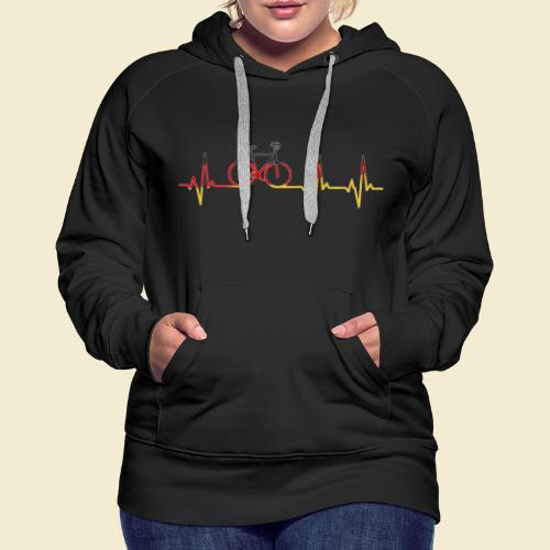 Kunstrad | Artistic Cycling Heart Monitor Germany - Frauen Premium Hoodie