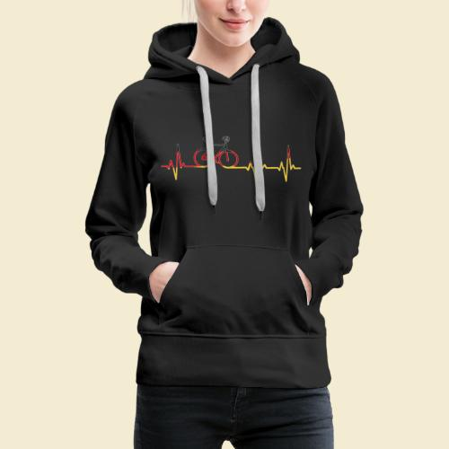 Kunstrad | Artistic Cycling Heart Monitor Germany - Frauen Premium Hoodie