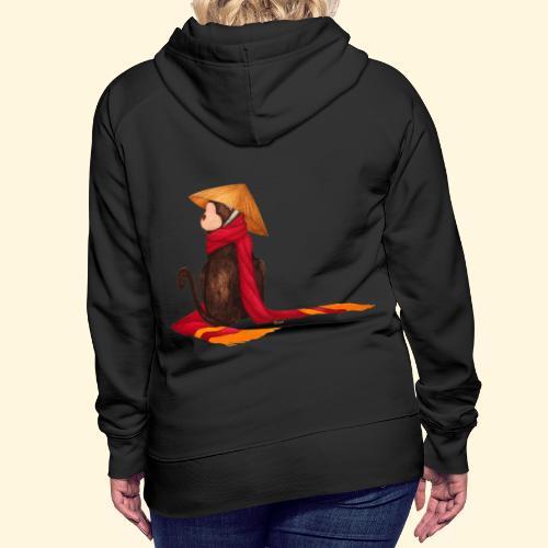 Un singe en hiver - Sweat-shirt à capuche Premium pour femmes
