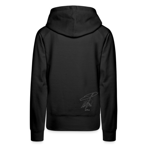 ccTLD Line - Black Signature / White outline - Frauen Premium Hoodie