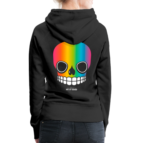 JUST SKULL rainbow - Naisten premium-huppari