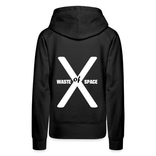 Waste of Space Logo black and white - Premium hettegenser for kvinner
