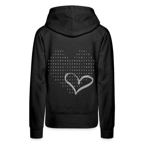 Suchspiel Liebe - Frauen Premium Hoodie