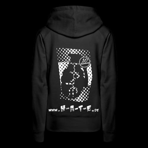 The BACK of 10th HATE Shirt - Frauen Premium Hoodie