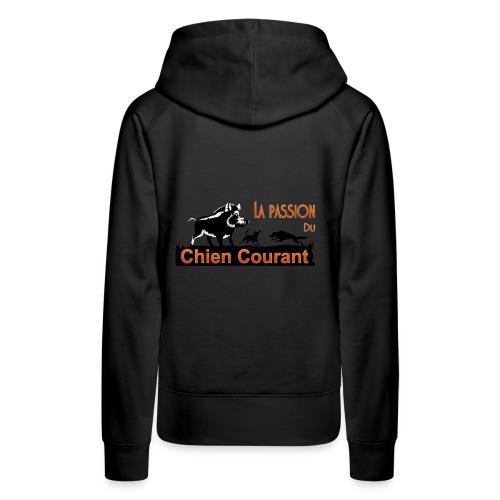 Passion DU chien courant - Sweat-shirt à capuche Premium pour femmes