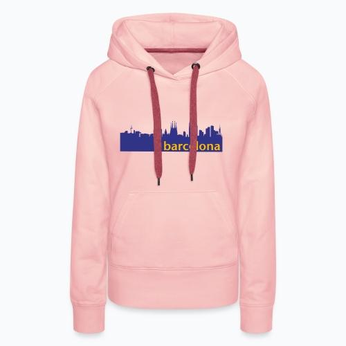 camisa con perfil de Barcelona - Sudadera con capucha premium para mujer