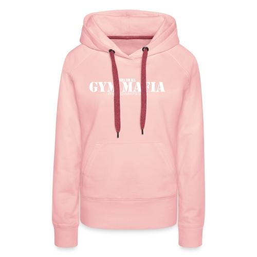gym_mafia_white - Bluza damska Premium z kapturem