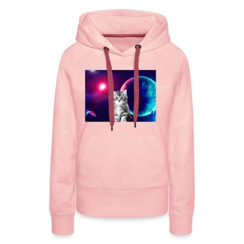 Cute cat in space - Naisten premium-huppari
