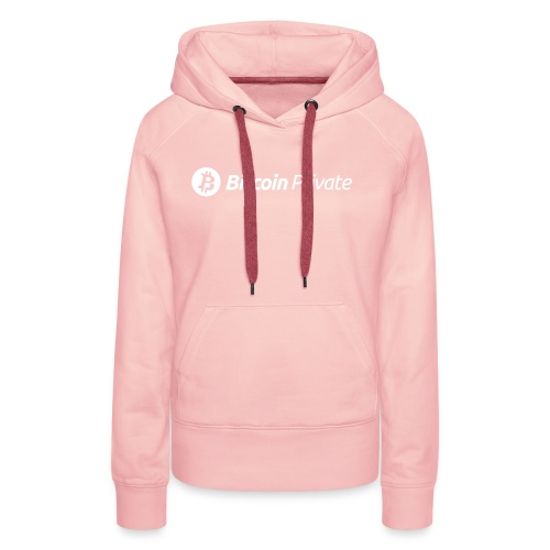 Bitcoin Private Logo White - Women's Premium Hoodie