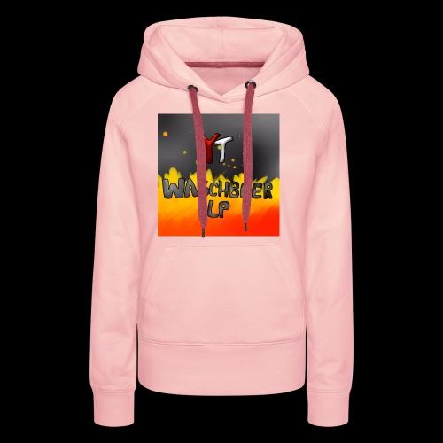 Waschbeer Design 2# Mit Flammen - Frauen Premium Hoodie
