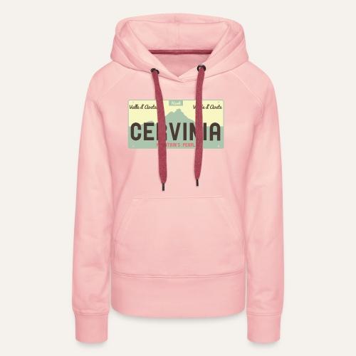 Plates II Cervinia - Felpa con cappuccio premium da donna