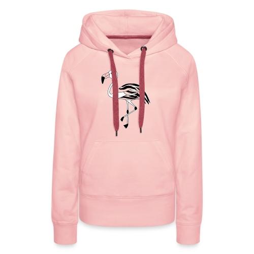 Flamingo schwarz-weiss - Frauen Premium Hoodie