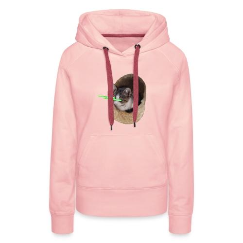 chatlazer - Sweat-shirt à capuche Premium pour femmes