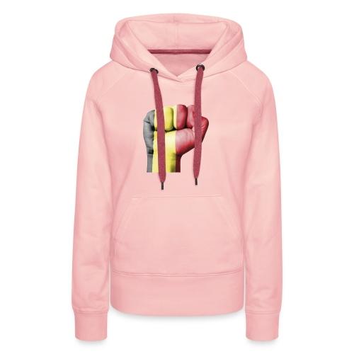 La résistance Belge - Sweat-shirt à capuche Premium pour femmes