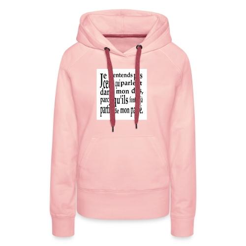 Cadeau amusant pour faux-ami - Sweat-shirt à capuche Premium pour femmes