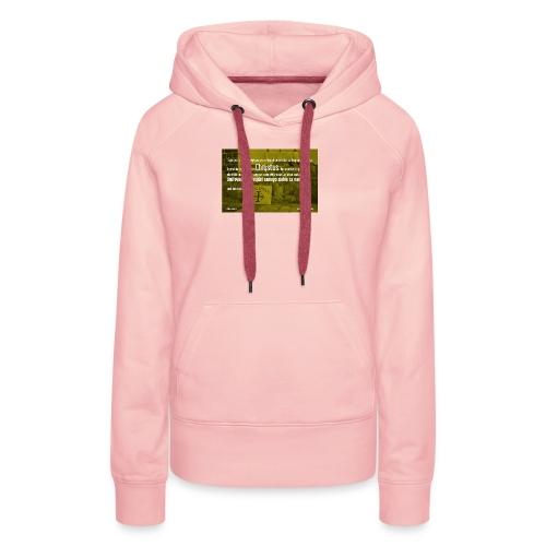 Oddać życie za bliźnich - Bluza damska Premium z kapturem
