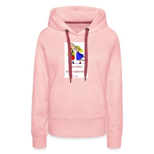 Łobuz kocha najbardziej - Bluza damska Premium z kapturem