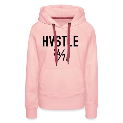 HVSTLE 24/7 Hoodie - Black Font - Frauen Premium Hoodie