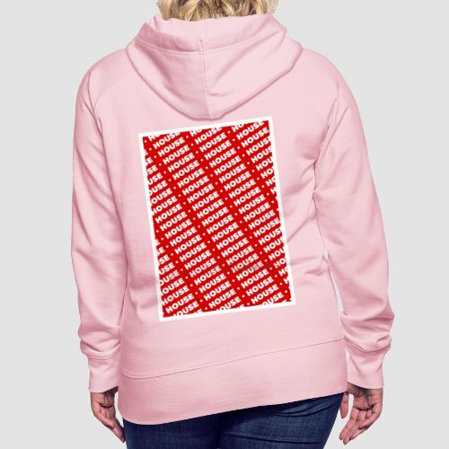 House red - Sudadera con capucha premium para mujer