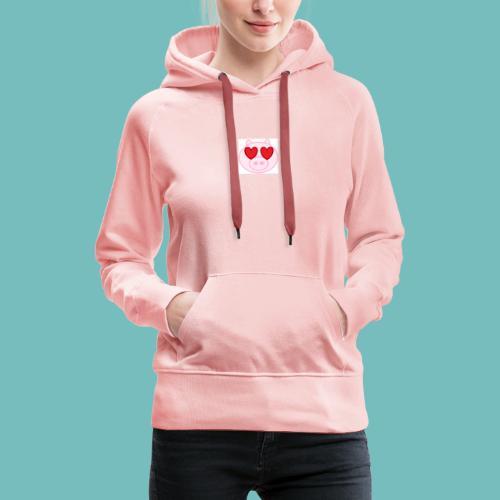 cerdito enamorado - Sudadera con capucha premium para mujer