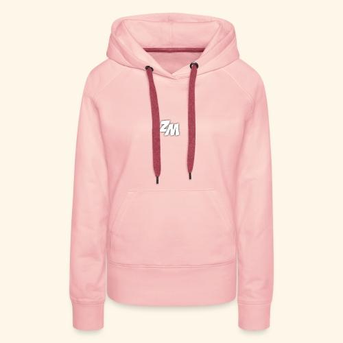 Logo ZM - Sweat-shirt à capuche Premium pour femmes