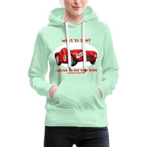 Happy Car Red - Women's Premium Hoodie
