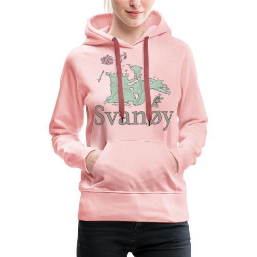 Svanøy - Premium hettegenser for kvinner