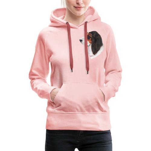 bassethound color - Dame Premium hættetrøje