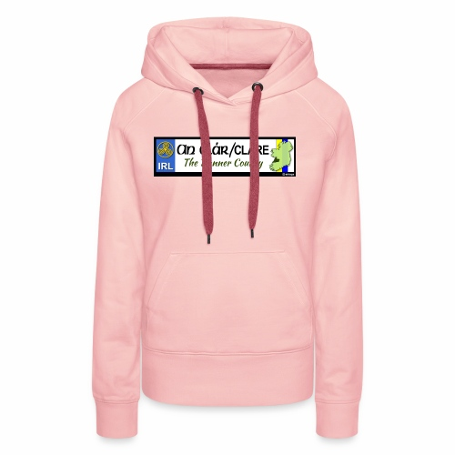 CO. CLARE, IRELAND: licence plate tag style decal - Women's Premium Hoodie