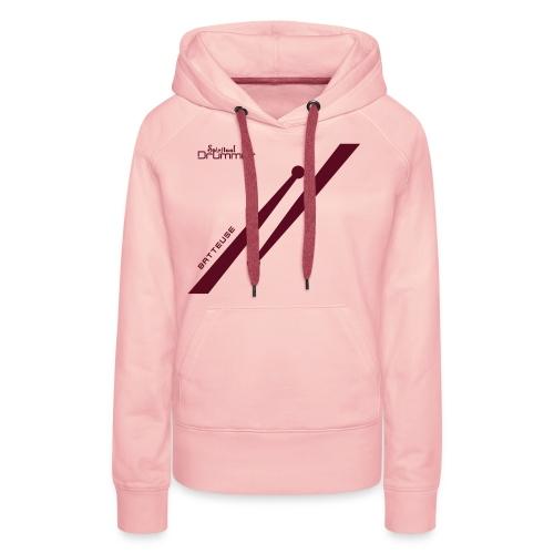 Drumstick Design Batteuse - Sweat-shirt à capuche Premium pour femmes