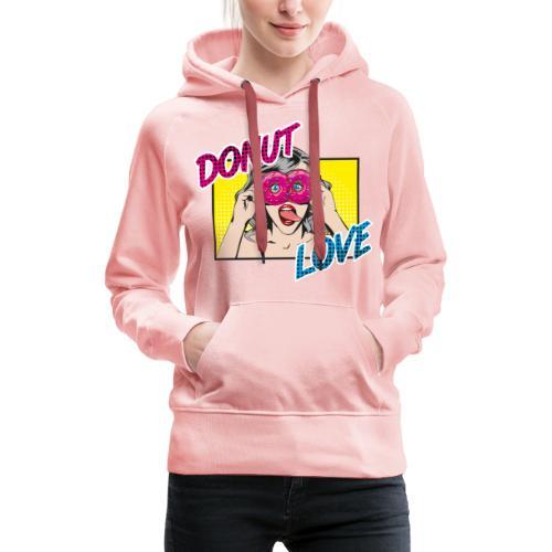 Popart - Donut Love - Zunge - Süßigkeit - Frauen Premium Hoodie
