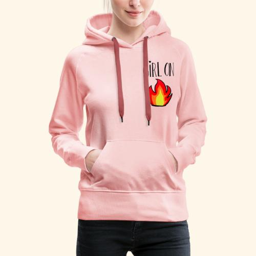 Girl on fire - Vrouwen Premium hoodie